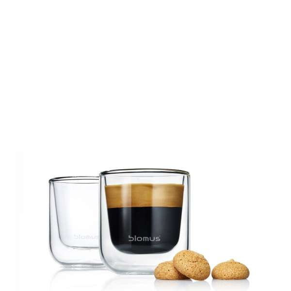 Set 2 Thermo-Espressogläser 0,08l NERO